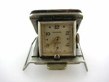 VINTAGE UNIQUE BUCKLE WATCH ROSIERES STAINLESS STEEL LEATHER