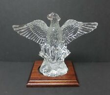 """WATERFORD COLLECTORS SOCIETY 2000 CRYSTAL """"PHOENIX"""" SPREAD-WING EAGLE & STAND"""