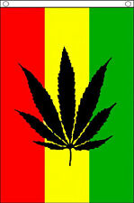 CANNABIS REGGAE BANNER 5' x 3' Marijuana Leaf Rasta Festival Flag TO CLEAR **