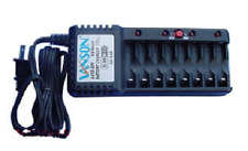 8 Slot Battery Charger For Ni-MH / Ni-CD, AA, AAA, Rechargeable Batteries Vanson