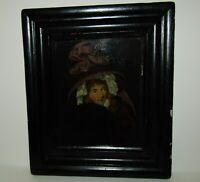 SUPERB, ANTIQUE GEORGIAN MINIATURE PORTRAIT OIL PAINTING