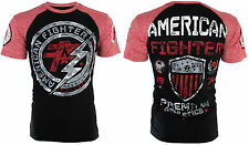 American Fighter Mens S/S T-Shirt ALLEN Athletic BLACK RED Biker Gym M-3XL $40