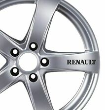 6 x Renault Alloy Wheels Stickers Clio Megane Scenic Captur Zoe Twing Car Tuning