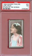 1936 Stars of the Screen Card #45 LUPE VELEZ Mexican Spitfire Actress PSA 7