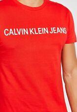 Calvin Klein Institutional Logo Slim T-Shirt  Racing Red 100% Authentic.