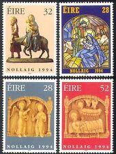 Ireland 1994 Christmas/Greetings/Nativity/Donkey/Cattle/Glass/Art 4v set n14610