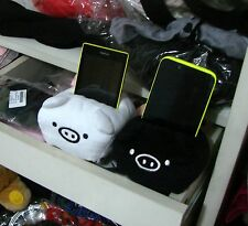 Lot 2pcs 11cm Plush Black White San-X Pig Monokuro Boo Mobile Phone Holder New