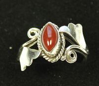 Wunderschöner Karneol Ring in 925 Silber 19/59 Edelstein Schmuck karneolring Neu