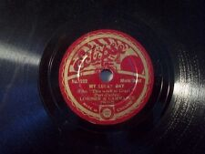 "LORIMER & LWARANCE ""Joe The Bo'Sun's Wooden Leg / My Lucky Day"" Eclipse 20cm"