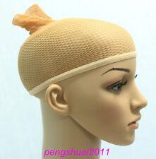 New Hot Fashion 1 PC New Elastic Nylon Beige Prevents Wig Slippage Wig Cap