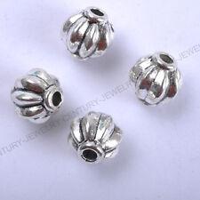 NP112 Wholesale 30pcs Tibetan Silver Lantern-Shaped Spacer Charms Beads 6X5MM