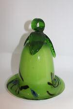 Elegant Green Swirled Blown Glass Bird Feeder