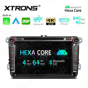 """6-Core 8"""" Android 10.0 4+64GB Car Stereo Radio DVD GPS for VW Passat Golf Amarok"""