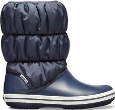 Crocs 14614 WINTER PUFF BOOT Nylon Shaft for Warmth Ladies Boots Navy/White