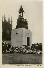 OLDHAM   War Memorial  showing Wreaths  and people  RP JE.263