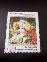 FRANCE, 1998 timbre 3147, TABLEAU ART, DELACROIX, oblitéré, used STAMP PAINTING