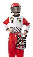 New Melissa & Doug Race Car Driver 3 Pcs Role Play Fancy Dress Costume Set [3-6]