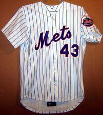New York Mets Rigo Beltran #43 White Pinstripe Game Worn Jersey