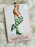 Ann Summers Over The Knee Ruby Stripe Stockings XS XXL New with Tags £12 rrp