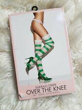 Ann Summers Emerald Stripe Stockings S-M L-XL Fancy Dress Christmas Secret Santa