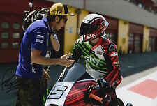 Romano Fenati mano firmato FOTO 12X8 VR46 TEAM KTM MOTO3 2015 18.