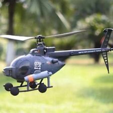 FX070C MD500 Scale Flybarless 2.4GHz 4 Channel RC Helicopter 6 Axis Gyro Single