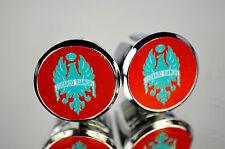 new Bianchi Red Handlebar End Plugs, plug Bar End Caps very rare vintage