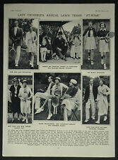 Lady Crosfield Society Lawn Tennis Witanhurst House 1937 Photo Article 7099