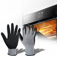 1 Pair Oven Gloves Heat Resistant Quilted Mitts Nylon For Cooking Baking BBQ