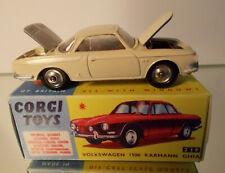 CORGI TOYS 239   Karmann Ghia VW 1500 1:43 neu aufgebaut