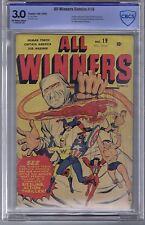 All Winners Comics #19 Timely 1946 CBCS 3.0,origin/1st All Winners Squad,SCARCE!