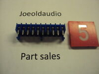 Molex Connector 10 Pin Blue Colored. NOS. Solder to Board Type.