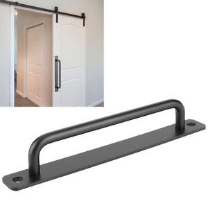 192mm Black Sliding Barn Door Pull Flush Handle Gate Hardware Set Heavy Duty