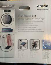Whirlpool 2 in 1 Stacking Kit Easy Install Sliding Shelf & Hanging Rack  SKS200
