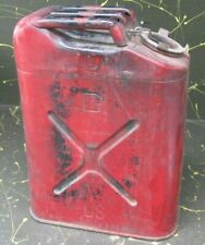 1988 Usmc 5 gallon metal gas can, jerry can container w/ screw-on lid