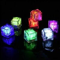 LED Glow Ice Cubes Multiple Color-Lights up Toy Party and-Festival M3G8 Bar H5N8