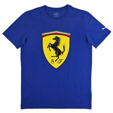 Puma Scuderia Ferrari Big escudo camiseta de hombre azul Motorsport Fórmula 1m
