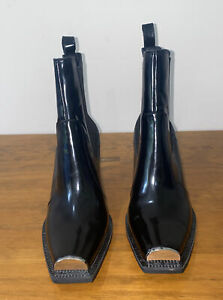 Jeffrey Campbell Black Leather Boots, Shoes, Size 10