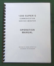 IFR 1200 Super S COMMUNICATIONS MONITOR OPERATION MANUAL