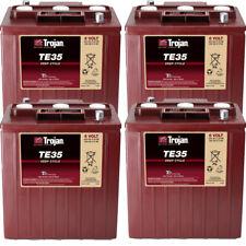 4x Batterie 6V Blockbatterie ORIG TROJAN TE35 Stapler Hebebühne