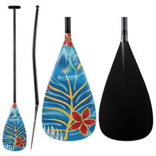ZJ Lightweight Carbon Outrigger Canoe OC Paddle Bent Shaft With Graphic Design