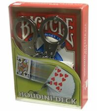 HOUDINI BICYCLE DECK BY VINCENZO DIFATTA & USPCC GIMMICK ESCAPE MAGIC CARD TRICK