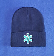 Star of Life embroidered EMS EMT  Stocking cap, Beanie, Winter hat Toboggan