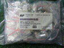 RF Industries UHF PL259 Coax Connector RFU-507-STFI Crimp RG-214 GRP F1 LOT 25