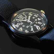 MWC Matt Negro 1960/70s patrón de Vietnam militar Reloj Negro Correas Nueva En Caja