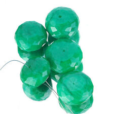 411 Cts/5 Pcs Exquisite Green Unique Natural Emerald Drilled Facetted Beads