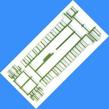 BURLINGTON NORTHERN GP38-2 GP40-2  HANDRAIL SET  ATHEARN HO Scale