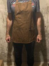 Vintage Dubbleware Union Made Brown Oiled Canvas Bib Shop Apron