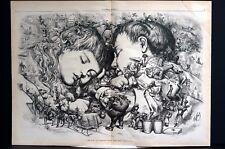 Nast Christmas 1873 Santa Claus MOTHER GOOSE SAME OLD STORY DREAMS Lg Art Print