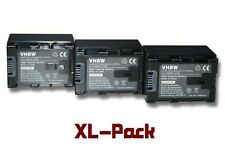 3x Batterie Infochip 2400mAh pour JVC GZ-E300AU, GZ-E300BU, GZ-E300WU, GZ-E306